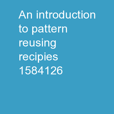 An introduction to pattern: Reusing Recipies