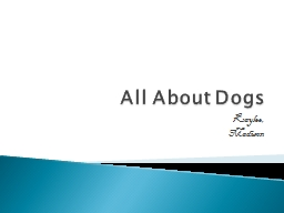 All About Dogs Kaylee, Madison PowerPoint PPT Presentation