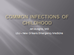 common infections of childhood