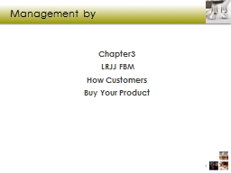 Management by  Chapter 3