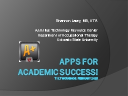 apps for  academic success! PowerPoint PPT Presentation