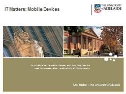 IT Matters: Mobile Devices