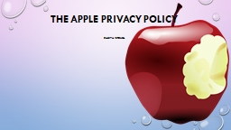 The Apple Privacy  Policy