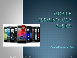 Mobile Terminology Basics