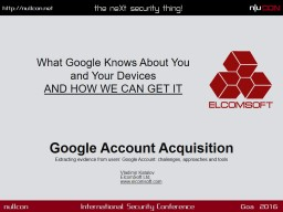 Google Account Acquisition