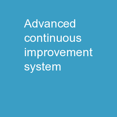 AdvancED Continuous Improvement System