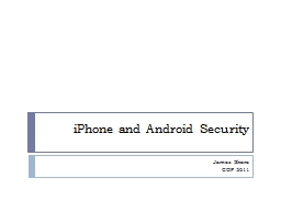 iPhone and Android Security PowerPoint PPT Presentation