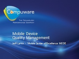 Mobile  Device  Quality
