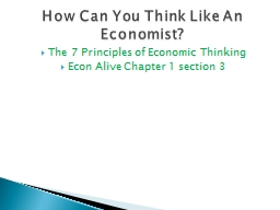 The 7 Principles of Economic Thinking