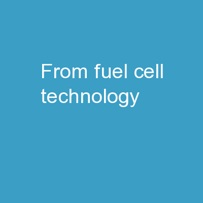 From fuel cell technology