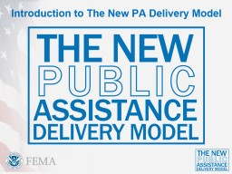Introduction to The New PA Delivery Model