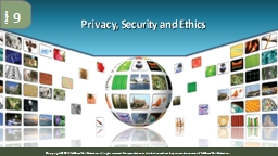 Privacy, Security and Ethics
