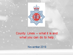 County Lines � what it is and what you can do to help.