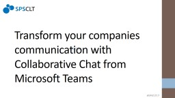 subtitle Transform your companies communication with Collaborative Chat from Microsoft Teams