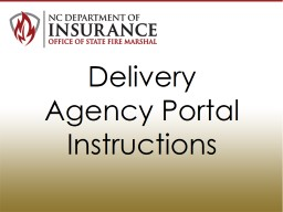 Delivery Agency Portal Instructions