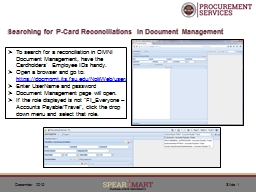 Searching for P-Card Reconciliations in Document Management