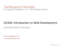 IS1500: Introduction to Web Development