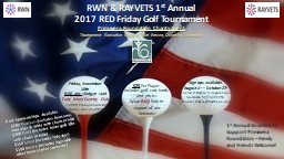 RWN & RAYVETS 1 st  Annual PowerPoint PPT Presentation
