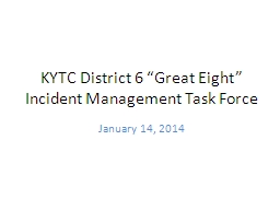 """KYTC District 6 """"Great Eight"""""""