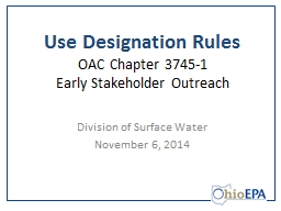 Use Designation Rules OAC Chapter 3745-1