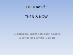 HOLIDAYS!!! THEN  & NOW