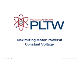 Maximizing Motor Power at Constant Voltage