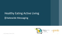 1 Healthy Eating Active Living