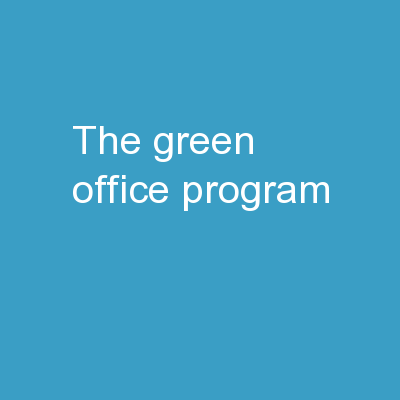 The Green Office Program