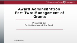 Award Administration  Part