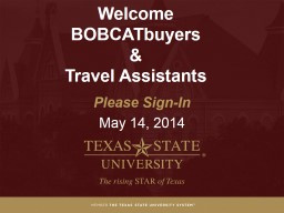 Welcome  BOBCATbuyers   &