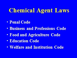 Chemical Agent Laws Penal Code