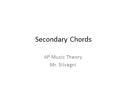 Secondary Chords AP Music Theory