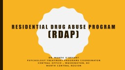 Residential Drug Abuse Program