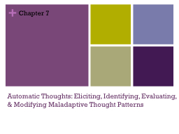 Automatic Thoughts: Eliciting, Identifying, Evaluating, & Modifying Maladaptive Thought Pattern