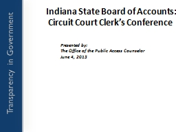 Indiana State Board of Accounts: