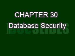 CHAPTER 30 Database Security