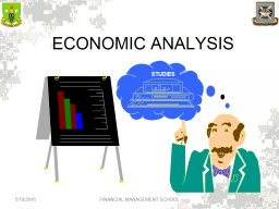 ECONOMIC ANALYSIS STUDIES