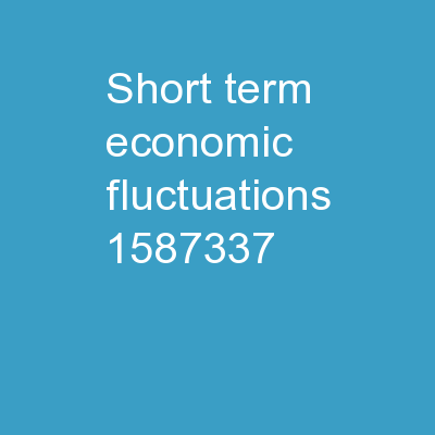 Short-Term Economic Fluctuations