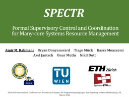 Formal Supervisory Control and Coordination