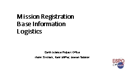 Mission Registration Base Information