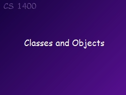 Classes and Objects Topics