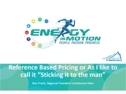 Reference Based Pricing or As I like to call it �Sticking it to the man�