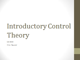 Introductory Control Theory PowerPoint PPT Presentation