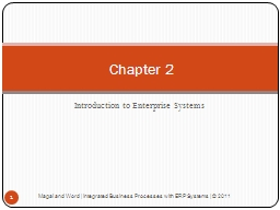 Introduction to Enterprise Systems PowerPoint PPT Presentation