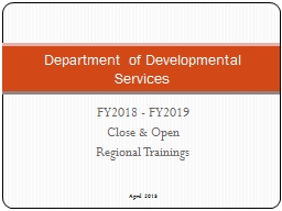 FY2018 - FY2019  Close & Open