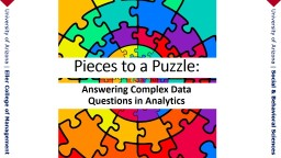 Pieces to a Puzzle: Answering Complex Data Questions in Analytics