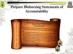 Prepare  Disbursing Statements of Accountability