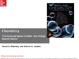 Chemistry The Molecular Nature of Matter and Change  Seventh Edition