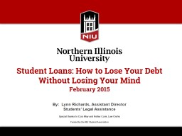Student Loans: How to Lose Your Debt PowerPoint PPT Presentation