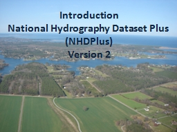 Introduction National Hydrography Dataset Plus